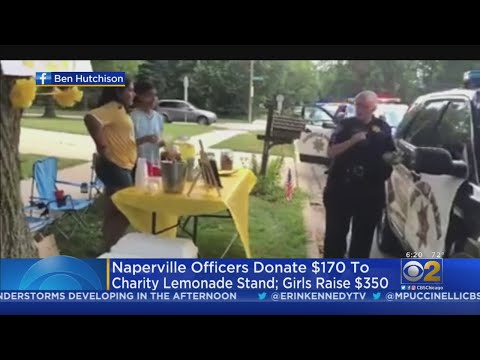 Mick Lee - Naperville Police Officers Donate to girl's Lemonade Stand After $9 Stolen