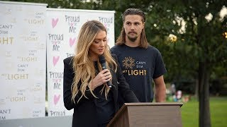 Erik and Melinda Karlsson speak out against bullying at first Can't Dim My Light event
