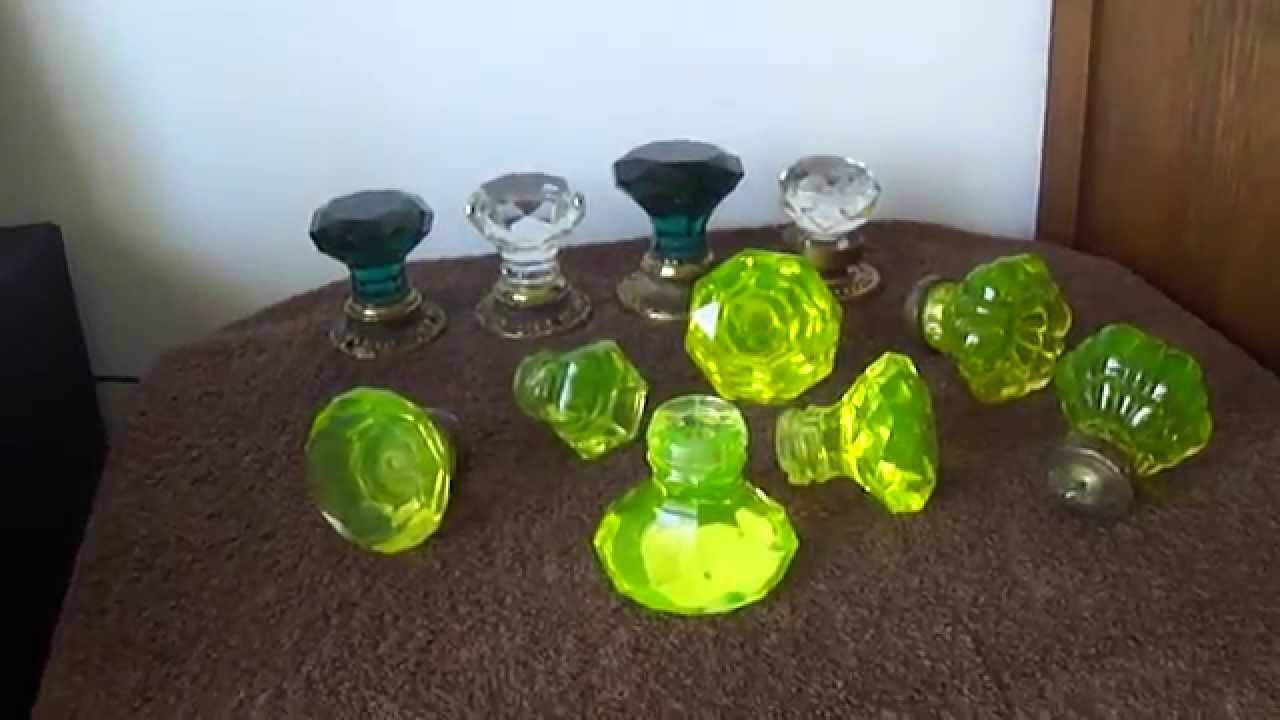 Door Knobs Uranium Glass Crystal Puxadores Em Vidro
