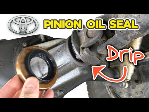 How To Replace Toyota Pinion Oil Seal In Rear Differential/3rd Member