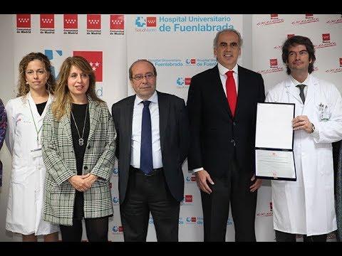 El Hospital de Fuenlabrada recibe la Placa Madrid Excelente