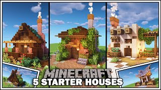 Minecraft: 5 Simple Starter Houses YouTube