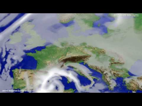 Cloud forecast Europe 2017-01-18