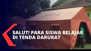 Sejumlah Siswa Probolinggo Belajar di Tenda Darurat