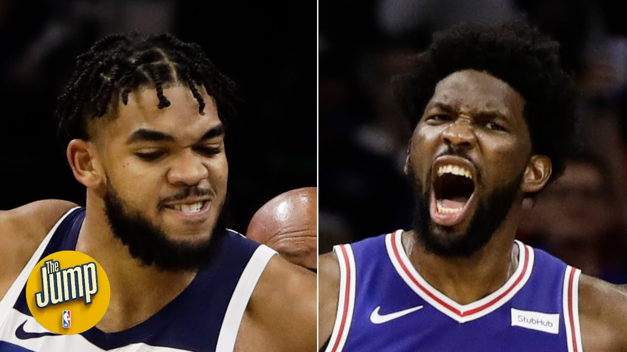 Download Joel Embiid and Karl-Anthony Towns fought on the court, then on social media | The Jump