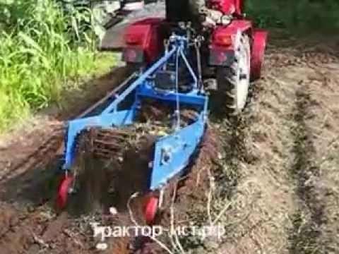 Картофелекопатель для минитрактора своими руками