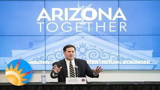 Gov Ducey announces that schools will reopen in the fall & explains how Arizona is still in Phase I