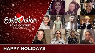 The Eurovision Song Contest stars wish you happy holidays!