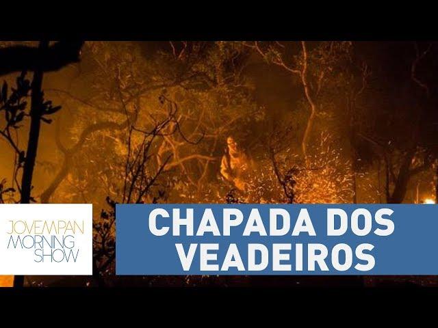 Mais de um quarto da área da Chapada dos Veadeiros é consumida por incêndio