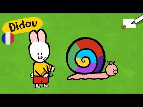 Escargot - Didou, dessine-moi un escargot |Dessins animés pour les enfants