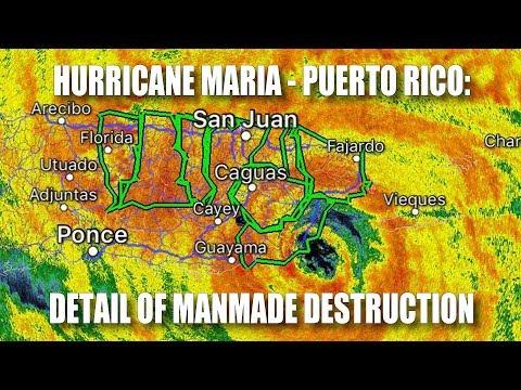 Hurricane Maria - Puerto Rico: Detail of Manmade Destruction