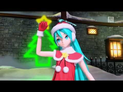 Hatsune Miku Golden Holy Night Blending into the Frost and Snow
