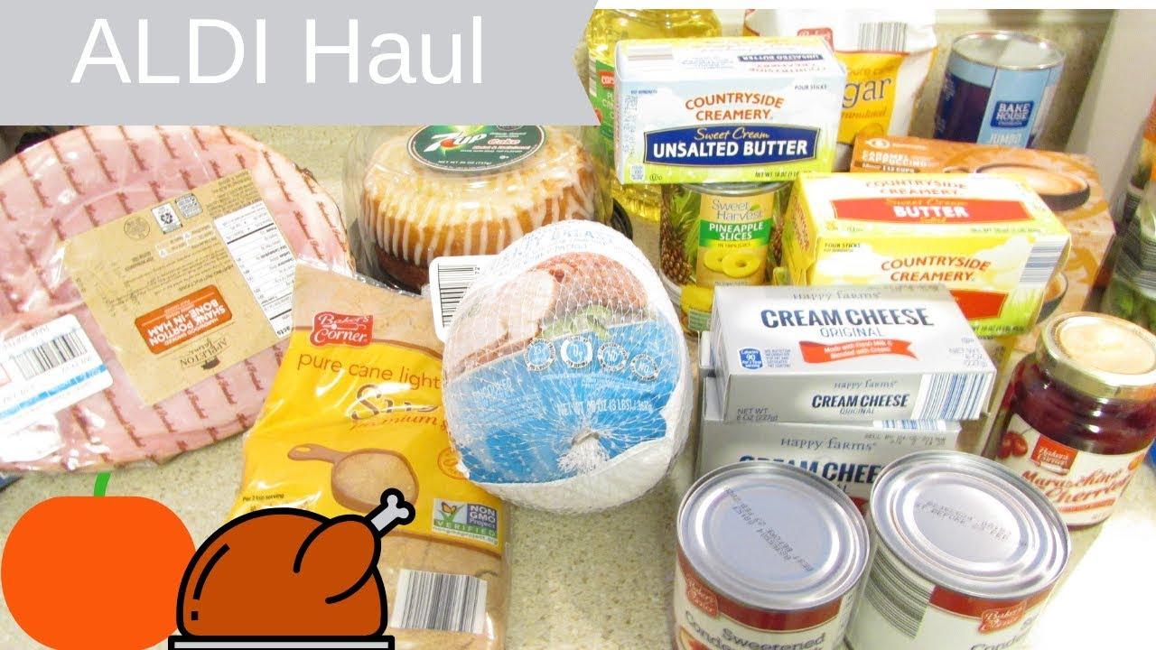 Aldi Thanksgiving Haul ~ Part 1  Make It Easier