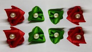 Beautiful Roses with Satin Ribbon || DIY Rose with Satin Ribbon || DIY Rose in jst 2 minutes ||Craft