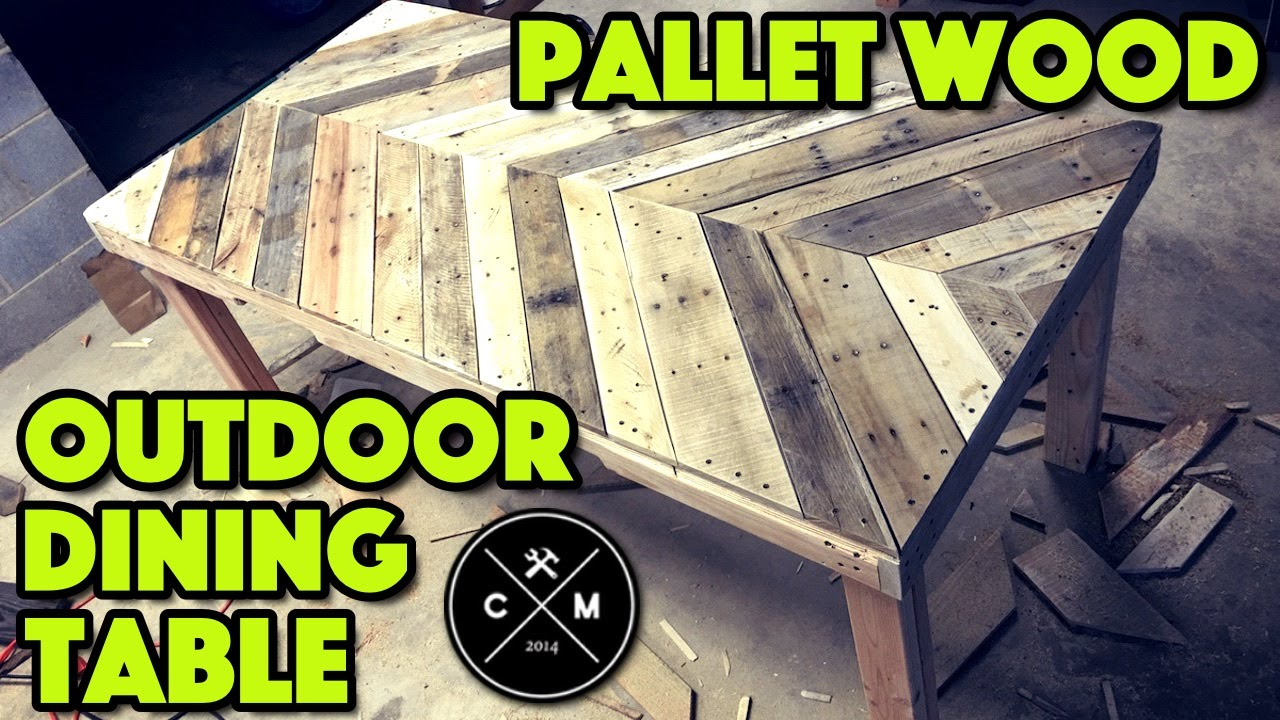 How To Build An Outdoor Dining Table From Pallet Wood DIY | Crafted ...