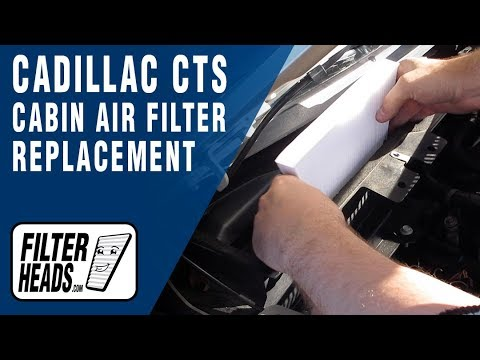 How to Replace Cabin Air Filter 2013 Cadillac CTS