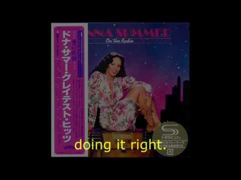 "Donna Summer - Sunset People (GH Edit) LYRICS SHM ""On the Radio: Greatest Hits I & II"""