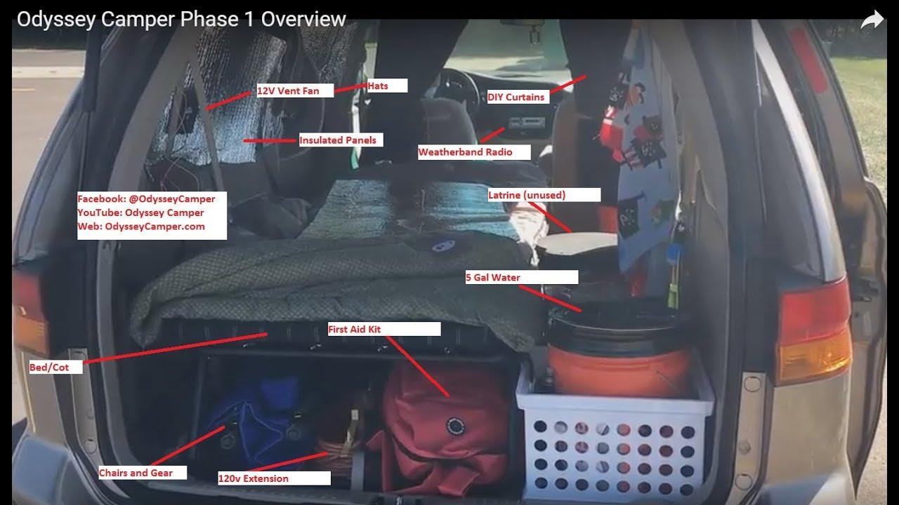 2017 Honda Odyssey >> Odyssey Camper Phase 1 Overview - YouTube