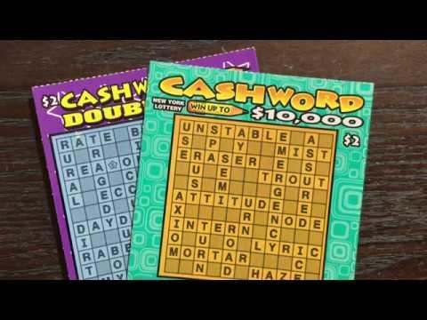 2 x $2 Cashword New York Lottery Scratch Off Tickets