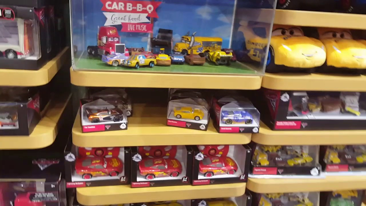 cars 3 toy hunt at the disney store youtube. Black Bedroom Furniture Sets. Home Design Ideas