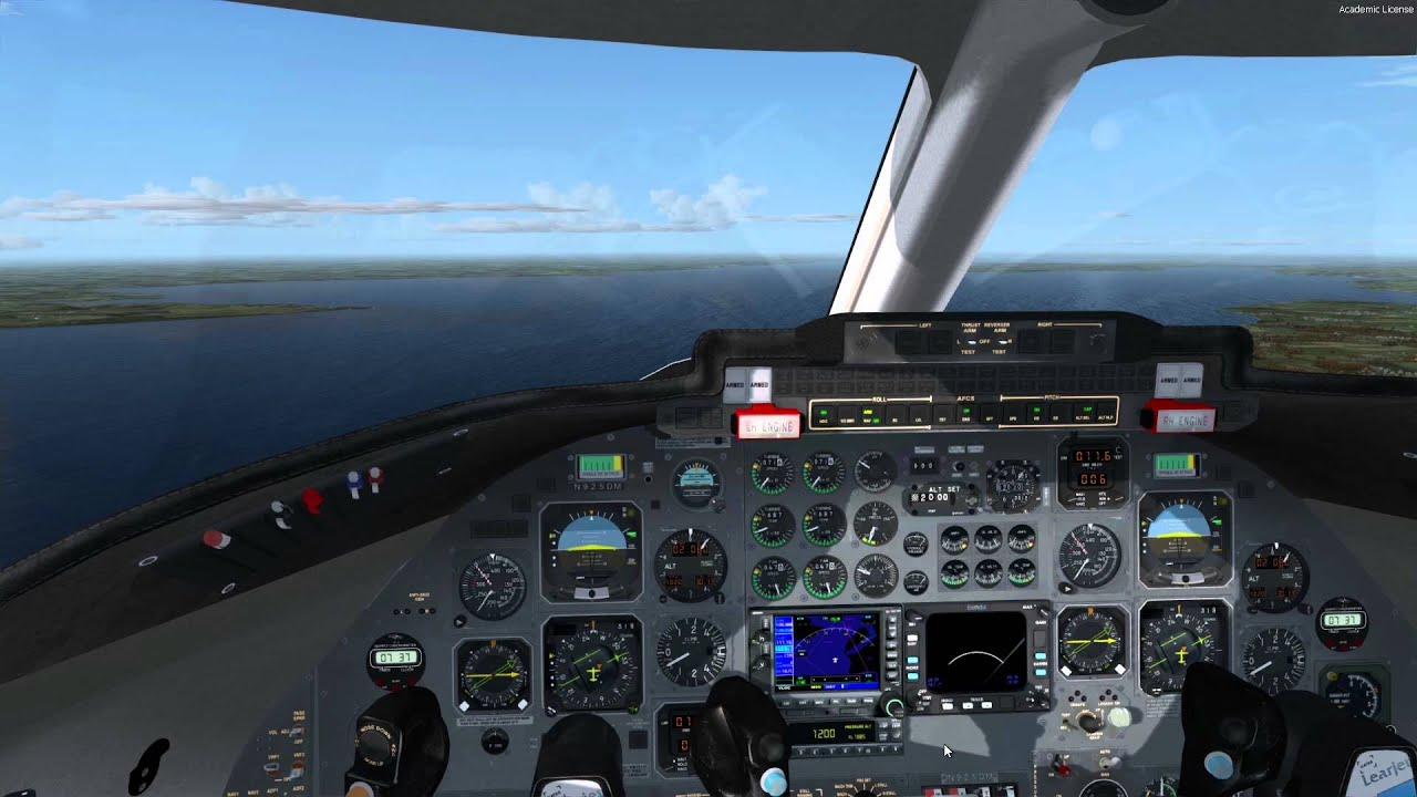 [P3D] Flysimware Learjet 35A landing at Sonderborg