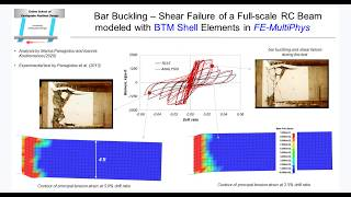 Bar Buckling - Shear Failure of a Full-scale RC Beam modeled with BTM Shells in FE-MultiPhys
