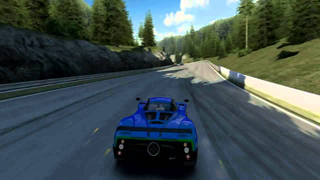 acrauto club revolution - pc race game. chase view of the pagani