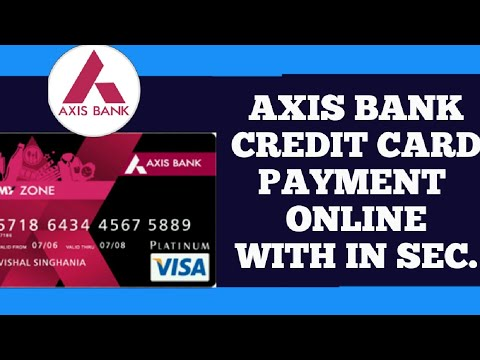 Axis credit card bill payment instant || credit card bill pay any time || AXIS MOBILE BANKING ||