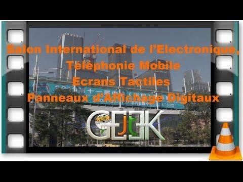 Salon International de l'Electronique et Ecrans Tactiles shenzhen 2013 par GLG du JT geek Hall 9