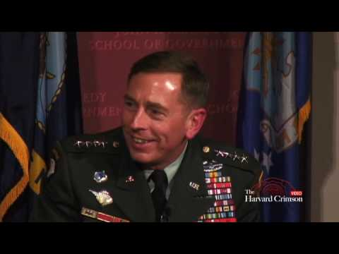 General David Petraeus at Harvard's Institute of Politics Forum