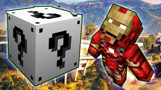 LUCKY WHITE BLOCKS IRON MAN MOD CHALLENGE - MINECRAFT MODDED MINI-GAME!