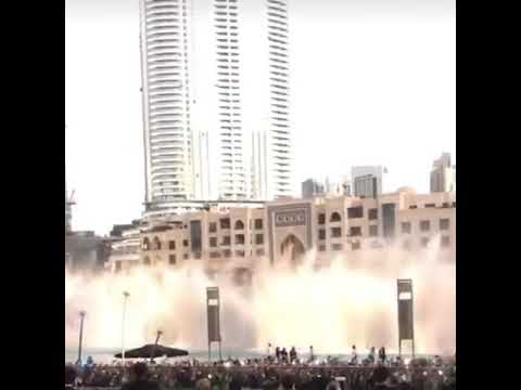 180116 EXO POWER💪❤💪playing at Dubai Fountain Burjakhalif Close Up the most beautiful thing ever😭