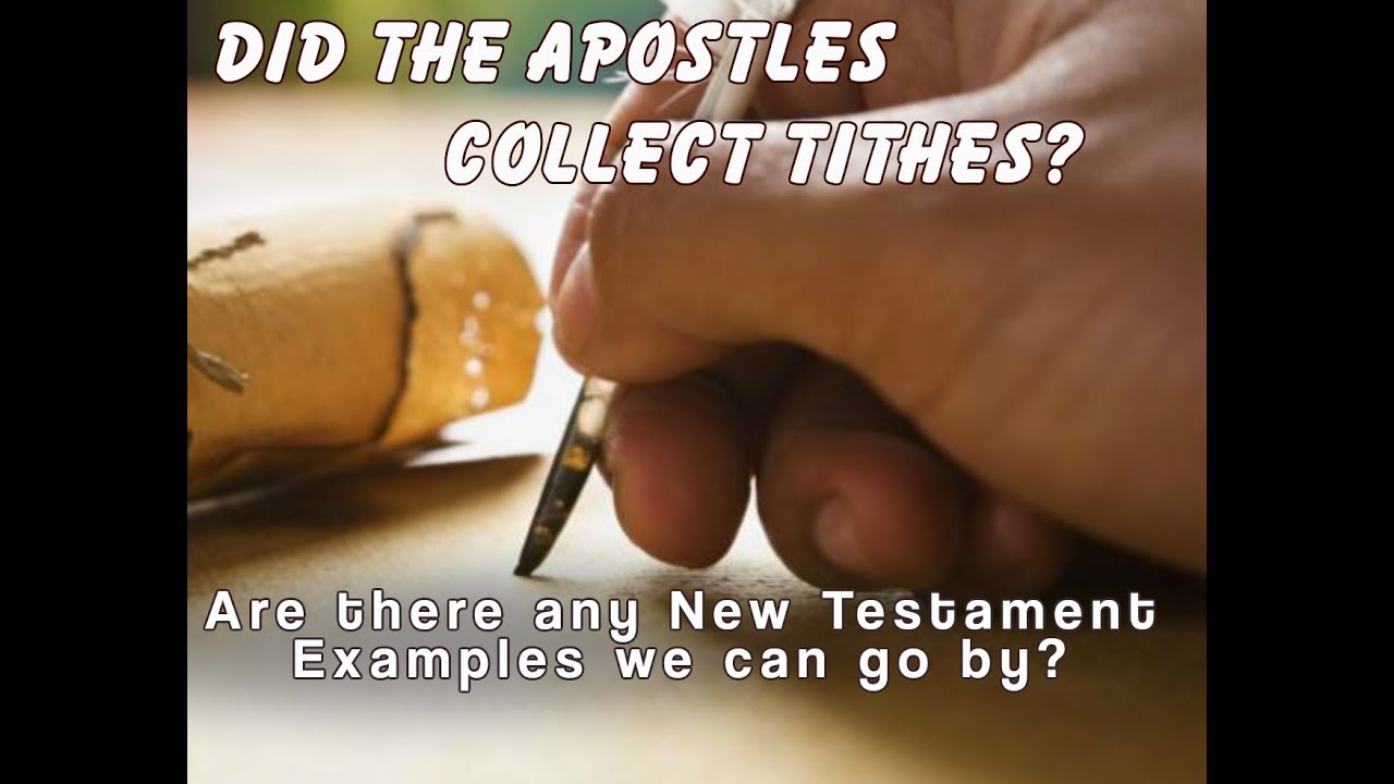 Download Did the Apostles Collect Tithes?
