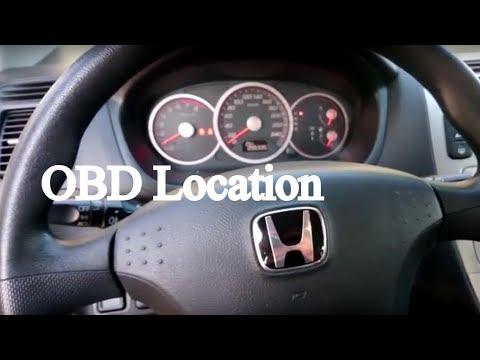 Honda Civic Vii Złącze Obd Youtube