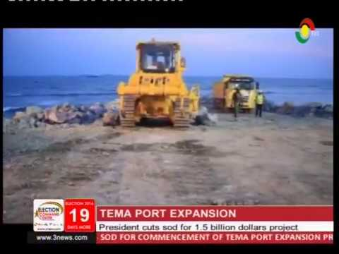 Prez. Mahama cuts sod for 1.5 billion Tema port expansion project -17/11/2016