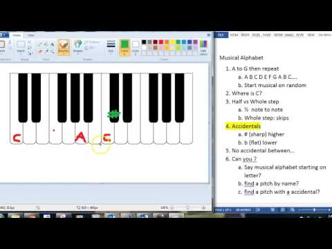 Theory lesson: Musical alphabet