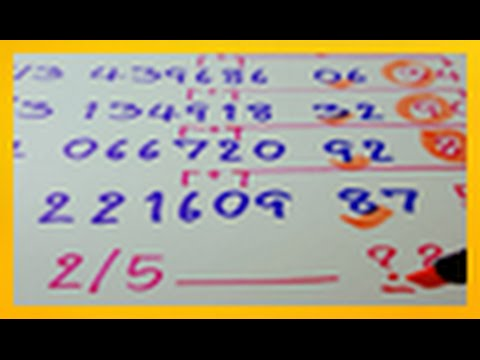 สูตรหวยหลักสิบล่าง 2/5/2559 เข้า 6 งวดซ้อน ซ้อน !!!