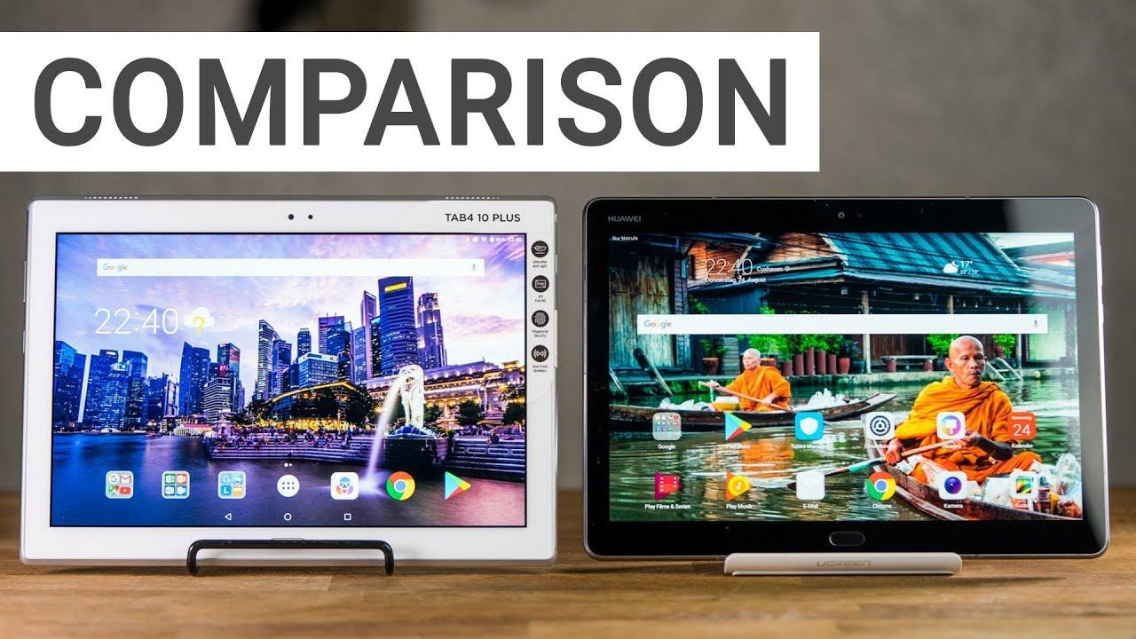 Lenovo Tab 4 10 Plus and Huawei MediaPad M3 Lite 10 - Comparison