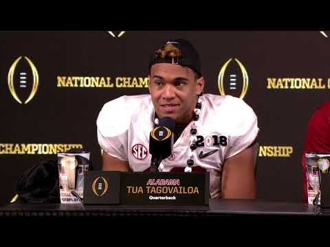 Postgame: Nick Saban, Tua Tagovailoa, Da'Ron Payne talk 2017 national title