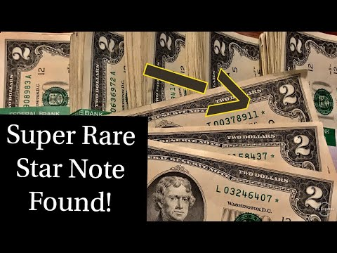 Super Rare Star Note Two Dollar Bill Found!