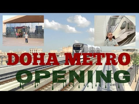 doha-metro-first-day-of-opening-l-first-ride-experience-l-travel-cards-l-qatar-rail