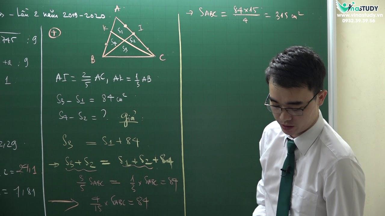 Giải đề tuyển sinh trường Archimedes lần 2 năm 2019-2020 – Ôn thi vào lớp 6 môn Toán