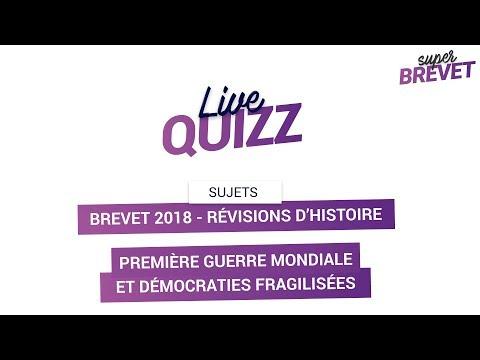 Brevet 2018 - Révisions d'Histoire en LIVE : Première Guerre Mondiale + Démocraties fragilisées