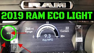 How To Enable/Disable 2019 Ram Eco Light