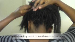 ♥34♥ Funky Stuffed Twists Updo: Natural Hair Style Inspired by CharyJay
