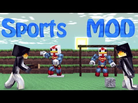 Minecraft Sports Mod Showcase! Baseball, Football, Tennis, Basketball!