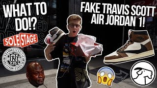 GETTING SOLD A FAKE PAIR OF TRAVIS SCOTT AIR JORDAN 1 ON GOAT! | WHAT TO DO.... | NYC VLOG #69