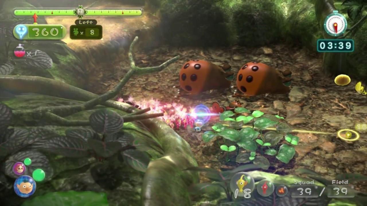 Pikmin 3 Mission Mode Battle Enemies 01 Tropical Forest Platinum No Deaths Youtube