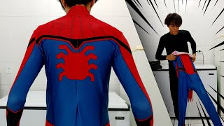 VESTINDO O TRAJE do SPIDER-MAN HOMECOMING - Cosplay