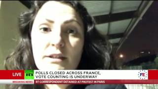 Detained RT correspondent's call to studio interrupted by Paris police during protests